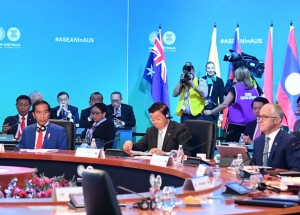 Presiden Jokowi saat menghadiri KTT ASEAN-Australia digelar di International Convention Centre (ICC), Sydney, Australia, Minggu (18/3). (Foto: BPMI)