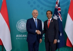 President Jokowi and PM Turnbull hold a bilateral meeting on the sidelines of the 2018 ASEAN-Australia Special Summit,at International Convention Centre, Sydney, Saturday (17/3) (Photo: BPMI).