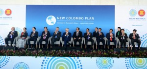 Presiden Jokowi saat menghadiri New Colombo Plan (NCP) Afternoon Tea di International Convention Center (ICC), Sydney Australia, Sabtu (17/3). (Foto: BPMI)