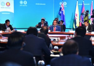 Presiden saat hadir dalam Sidang Pleno KTT Istimewa ASEAN-Australia di International Convention Centre, Sydney, Minggu (18/3). (Foto: BPMI)
