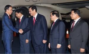 Presiden dan rombongan tersebut mendarat di Pangkalan TNI AU Halim Perdanakusuma Jakarta, Selasa (20/3) pukul 04.50 WIB. (Foto: BPMI)