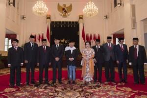 Dewan Pengarah dan Kepala UKP PIP saat dilantik oleh Presiden Jokowi di Istana Negara, Jakarta, Juni 2017 lalu.