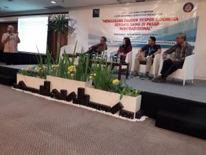 Suasana diskusi dalam Forum Tematik Badan Koordinasi Hubungan Kemasyarakatan (Bakohumas), di Hotel Santika Premiere, Yogyakarta, Kamis (5/4). (Foto: Humas/Edi)