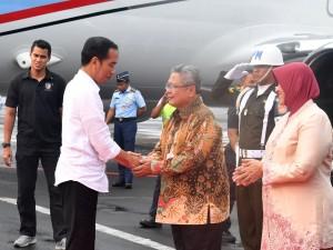 Presiden tiba di Semarang, Jawa Tengah, Jumat (13/4). (Foto: BPMI).