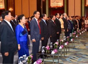 Presiden saat hadir pada KTT ke-32 ASEAN yang digelar di The Acacia Room, Hotel Shang-La, Singapura, pada Sabtu (28/4). (Foto: BPMI)