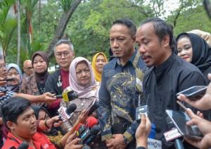 Ketua IFC usai bertemu dengan Presiden Jokowi di Istana Kepresidenan Bogor, Jawa Barat, Kamis (26/4). (Foto: Humas/Agung)