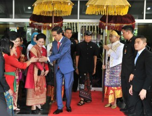 President Jokowi when attending National Dharma Santi Silent Day Celebration at Ahmad Yani Sports Hall, Cilangkap, Jakarta Saturday (7/4). (Photo: PR/Rahmat)