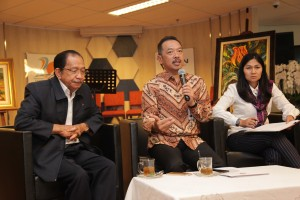 The Announcement of the decision of PT Pertamina General Meeting of Shareholders at the office of Ministry of SOEs in Jakarta, Friday (20/4). (Photo by: Public Relations Division of Ministry of SOEs).
