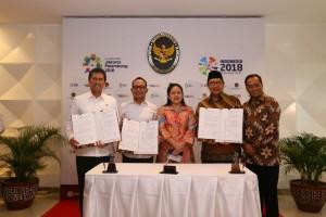 Konferensi Pers bersama tentang cuti bersama di kantor Kemenko PMK, Jakarta, Rabu (18/4). (Foto: Humas Kemenko PMK).