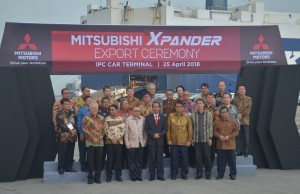 President Jokowi at the launch of Mitsubishi Xpander First Export in 2018, at Tanjung Priok Port, North Jakarta, Wednesday (25/4). (Photo: PR / Jay)