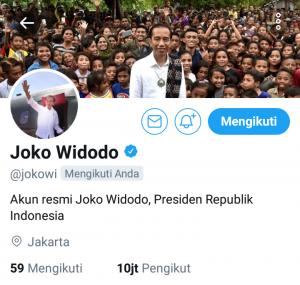 Akun twitter Presiden