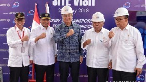 Minister of Transportation as well as Minister of Public Works and Public Housing attend a Site Visit to Patimban Seaport Development Project, on Sunday (20/5), in Indramayu, West Java (Photo: Transportation Ministry/PR)