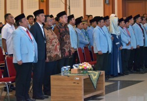 President Jokowi attends an amicable gathering with BKPRMI, Wednesday (25/4), at Pondok Gede Hajj dormitory, Pinang Ranti, East Jakarta (Photo: PR/Jay).
