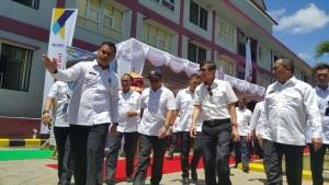 Menkumham meninjau pembangunan rusun bagi pegawai lapas yang dibangun melalui anggaran Kementerian PUPR.