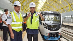 Minister of Transportation inspects Palembang LRT Project on Monday (27/5). (Photo by: Ministry of Transportation).