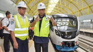 Minister of Transportation inspects Palembang LRT Project on Monday (27/5). (Photo by: Ministry of Transportation).