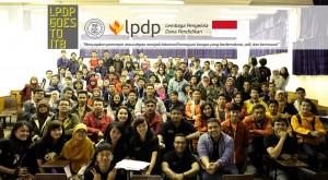 Penerima LPDP berfoto bersama
