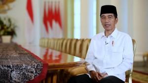 Presiden Jokowi menyampaikan ucapan menyambut Ramadhan 1439H, di Istana Kepresidenan Bogor, Jabar, Kamis (17/5). (Foto: Setpres)