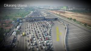 Gerbang Tol Cikarang Utama, Rabu (13/6). (Foto: FASI)