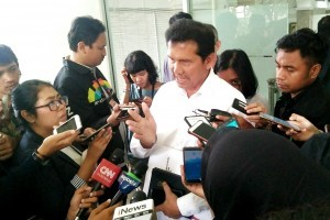 PANRB Minister Asman Abnur gives statement to reporters after a Limited Meeting, at the Presidential Office, Jakarta, Tuesday (26/6). (Photo by: Rizki/Public Relations Division)