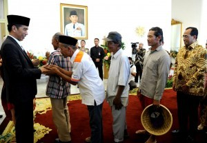 President Jokowi holds an Open House at Bogor Presidential Palace, West Java, Friday (15/6) morning (Photo: BPMI).