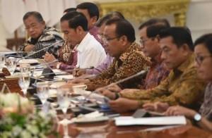 Presiden Jokowi saat memimpin Ratas pendirian UIII.