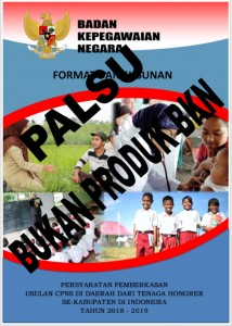 Info Juknis Palsu (Sumber: BKN)
