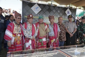 An event to mark the construction of the first National Observatory, Kupang, East Nusa Tenggara (NTT), Monday (9/7) (Photo: Ministry for Research, Technology, and Higher Education)