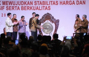 President Jokowi opens the 2018 National Coordination Meeting of Inflation at Grand Sahid Jaya Hotel, Jakarta, Thursday (26/7). (Photo by: Public Relations Division /Jay).