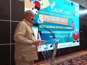 "Gubernur Sumsel Alex Nurdin saat peluncuran Layanan Panggilan Darurat 112 ""Palembang Siaga 112"", di Palembang, Kamis (5/7) siang. (Foto: IST)"