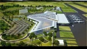 mock-up of Kediri Airport, East Java