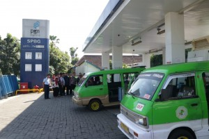Salah satu stasiun pengisian bahan bakar gas milik PGN di Bogor, Jabar. (Foto: Edi N./Humas)