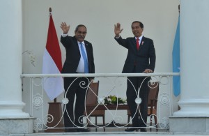 Presiden Jokowi dalam konferensi pers bersama Presiden Federasi Serikat Mikronesia, Peter Christian, di ruang Garuda, Istana Kepreidenan Bogor, Jawa Barat, Rabu (18/7). (Foto: Humas/Jay)