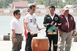 Presiden Jokowi meresmikan 5 venue di Jakabaring Sport City, Palembang, Sumsel, Sabtu (14/7. (Foto: Humas/Dindha)