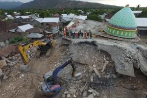 Pencarian korban di Lombok Utara, NTB.