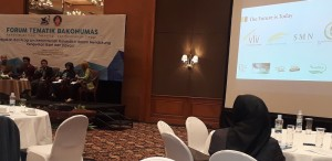 Perusahaan pemula berbasis teknologi binaan Kemristekdikti turut memberikan testimoni dalam acara Forum Bakohumas di Hotel Aryaduta, Jakarta, Kamis (2/8).