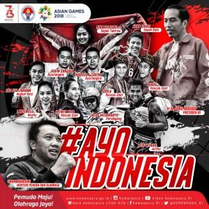Slogan #AyoIndonesia untuk Asian Games 2018
