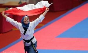 Indonesian Taekwondo athlete, Defia Rosmaniar