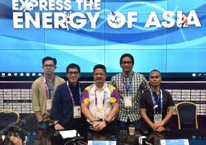 Inasgoc menyampaikan keterangan pers di Jakarta Convention Center (JCC), Senin (27/8)