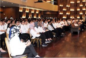 Ke-400 insinyur muda yang akan dikirim ke Lombok, NTB, mendapatkan pembekalan dari Menteri PUPR Basuki Hadimuljono, di Jakarta, Selasa (28/8). (Foto: BKB Kementerian PUPR/ES)