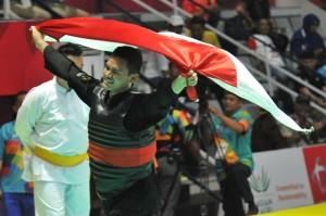 Silat competition held at Padepokan Silat TMII, Jakarta, Monday (27/8). (Humas/Jay)