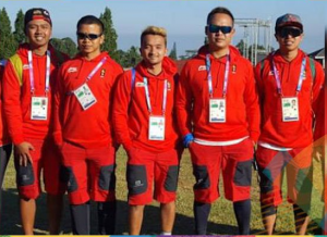 Atlet paragliding yang menyumbangkan medali emas dalam nomor keakuratan mendarat, di Puncak, Cianjur, Jabar, Rabu (22/8) siang. (Foto: IST)