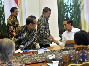 President Jokowi before leading Limited Meeting at the Bogor Presidential Palace, West Java, Tuesday (31/7) (Picture: PR Division/ Rahmat)