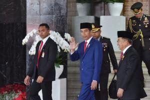 Presiden bersama Wapres di Gedung Nusantara, Jakarta, Kamis (16/8) siang. (Foto: Humas/Oji)