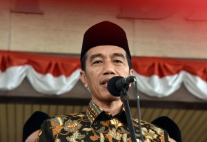 President Jokowi during a press conference on Thursday (24/8). (Photo by: Jay/ Public Relations Division of Cabinet Secretariat).