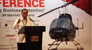 Minister of Transportation Budi K. Sumadi at the 2018 Rotary Wing Indonesia Conference, Jakarta, Wednesday (26/9). Photo by: BKPI, Ministry of Transportation)