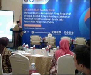 Anggota Wantimpres Agum Gumelar menyampaikan paparan dalam Forum Bakohumas, di Hotel Crown Plaza, Jakarta, Rabu (26/9) pagi. (Foto: Heni/Humas)