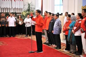 Presiden saat memberikan sambutan di Istana Negara, Minggu (2/9). (Foto: Humas/Jay)