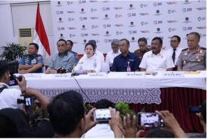 Menko PMK Puan Maharani memimpin Rakor Tingkat Menteri Persiapan Penyelenggaraan Asian Para Games III Tahun 2018, di kantor Kemenko PMK, Jakarta, Senin (3/9) siang. (Foto: Humas Kemenko PMK)