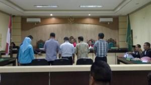 Suasana salah satu persidangan yang melibat PNS atas kasus korupsi di daerah. (Foto: IST)